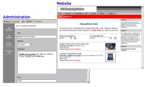 Database-Driven Web Application - Classified Ads